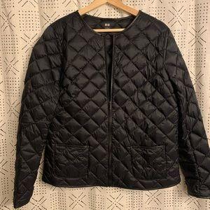 Uniqlo Black Puff Liner Coat